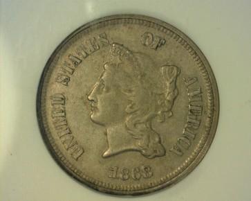 1868 5c PF55 ANACS