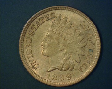 1/1899 RPD INDIAN CENT 1c MS63 RD