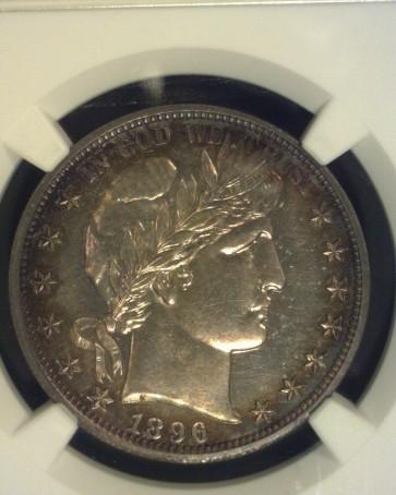 1896 BARBER HALF DOLLAR 50c PF64 NGC