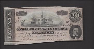 1864 Type 67 $20 CU