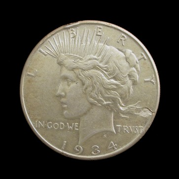 1934 PEACE $ $1 AU50