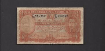 AUSTRALIA, 1939 10 Shillings G6 P25a