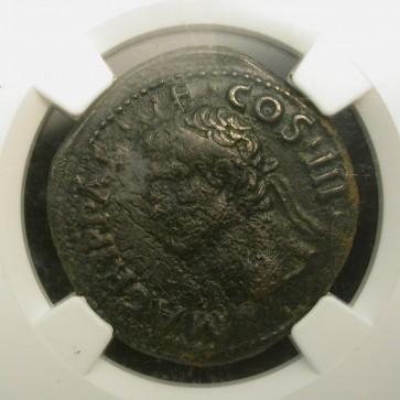 ROME, 12 BC Ae As VF20 NGC