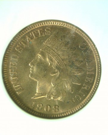 1908-S INDIAN CENT 1c MS64 NGC RD