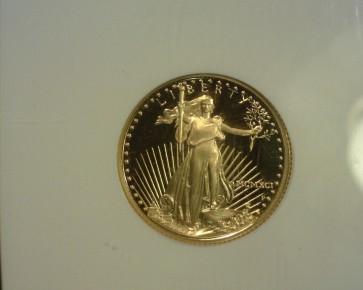 1991-P $10 1/4oz GOLD EAGLE $10 PF70 NGC Ultra Cameo