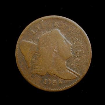 1794 LIBERTY CAP HALF CENT 1/2c F12