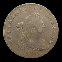 1800 Dotted Date DRAPED BUST/HERALDIC DOLLAR $1 EF40