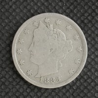 1883 No Cents LIBERTY NICKEL 5c (Nickel) Avg Circ