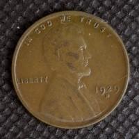1929-D LINCOLN WHEAT CENT 1c AU50