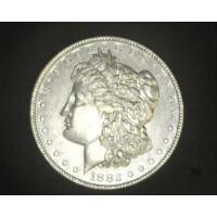 1882-O/O MORGAN DOLLAR $1 AU50