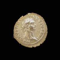 ROMAN EMPIRE, 81-96 Denarius EF45 Sear882