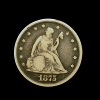 1875 LIBERTY SEATED TWENTY CENT 20c F12