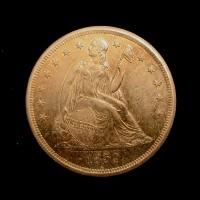 1859-O LIBERTY SEATED DOLLAR $1 MS61