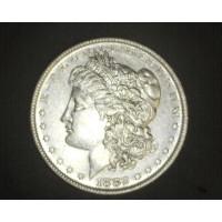 1882-O/S MORGAN DOLLAR $1 AU50
