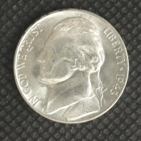 1943-D JEFFERSON NICKEL 5c (Nickel) MS65 5+ STEPS W/NICK