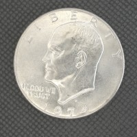 1974-D EISENHOWER DOLLAR $1 MS63/65