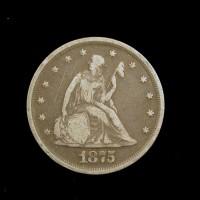 1875 LIBERTY SEATED TWENTY CENT 20c F12