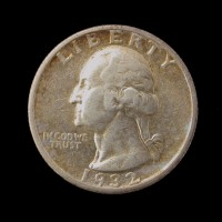 1932-S WASHINGTON QUARTER 25c AU50