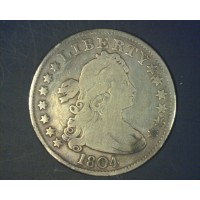 1804 DRAPED BUST QUARTER DOLLAR 25c VG/F