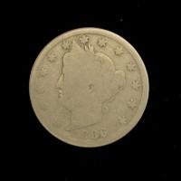 1886 LIBERTY NICKEL 5c (Nickel) G4