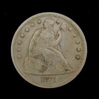 1871 LIBERTY SEATED DOLLAR $1 VF35