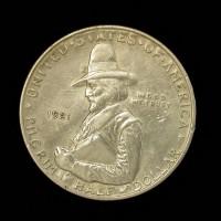 1921 Pilgrim 1/2$ AU50