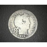 1892 BARBER DIME 10c AG3