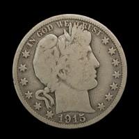 1915 BARBER HALF DOLLAR 50c G6