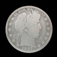 1897-O BARBER HALF DOLLAR 50c G4