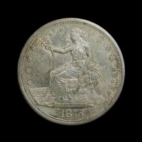 1875-S LgS Ty'2 Rev TRADE DOLLAR $1 AU58