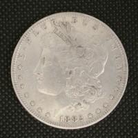 1882-O/S MORGAN DOLLAR $1 EF48