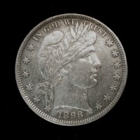 1898 BARBER HALF DOLLAR 50c AU50