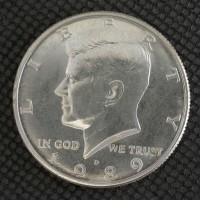 1989-D KENNEDY HALF DOLLAR 50c MS65