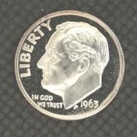 1963 ROOSEVELT DIME 10c PF65+ CAM
