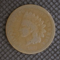 1873 Op3 INDIAN CENT 1c AG3