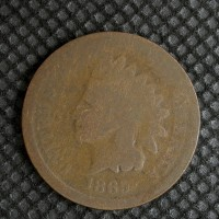 1865 Pl5 INDIAN CENT 1c AG3