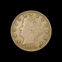 1910 LIBERTY NICKEL 5c (Nickel) EF48