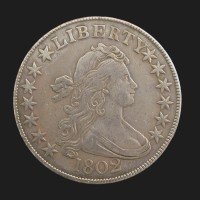 1802 DRAPED BUST HALF DOLLAR 50c EF43