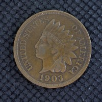 1903 INDIAN CENT 1c EF45