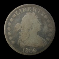 1806/5 DRAPED BUST QUARTER DOLLAR 25c VG9