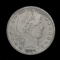 1894 BARBER HALF DOLLAR 50c VG10