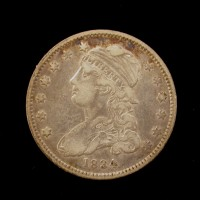 1834 No Period CAPPED BUST QUARTER DOLLAR 25c EF40