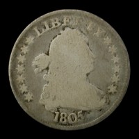 1805 DRAPED BUST QUARTER DOLLAR 25c VG8
