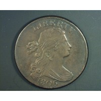 1806 DRAPED BUST LARGE CENT 1c AU50