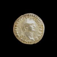 ROMAN EMPIRE, 81-96 Denarius VF35 -