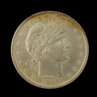 1898 BARBER HALF DOLLAR 50c MS61