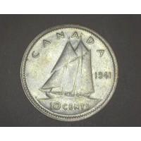 CANADA, 1941 10c AU50 KM34