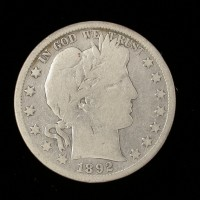 1892-S BARBER HALF DOLLAR 50c VG/G