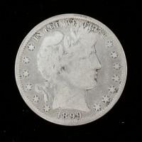 1899-O BARBER HALF DOLLAR 50c VG10