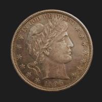 1906-D BARBER HALF DOLLAR 50c AU50